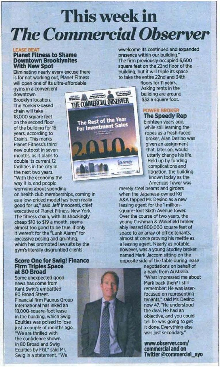 New York Observer 11.1.10