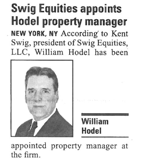 Bill Hodel - New York Real Estate Journal